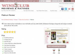 Cellars Wine Club Platinum Wine Club Review