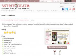 Cellars Wine Club Platinum Wine Club Review