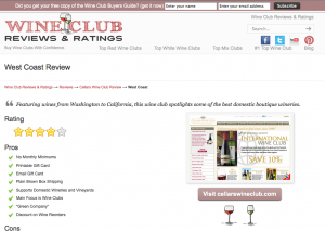 Cellars West Coast California Wine Club Review