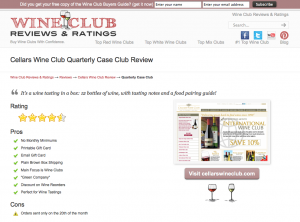 Cellars Wine Club Quarterly Case Club Review - A full Case of wine!
