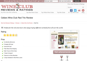 Cellars Wine Club Red Trio Wine Club Review
